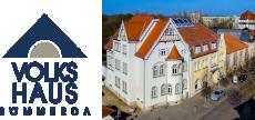 Logo Volkshaus Sömmerda mit Foto vom Volkshaus